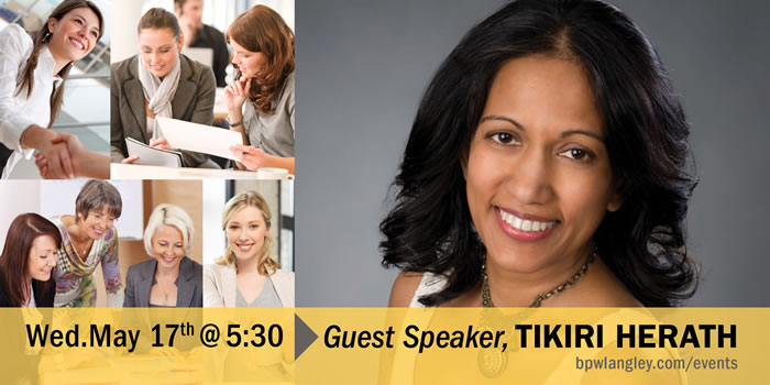 BPW May 17 Dinner Meeting Tikiri Herath, Author-preneur, Girl Empowerer and Red-Heeled Rebel.